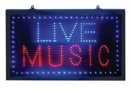 Live Music Led Sign